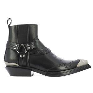 BALENCIAGA Santiag Leather Western Boots NIB